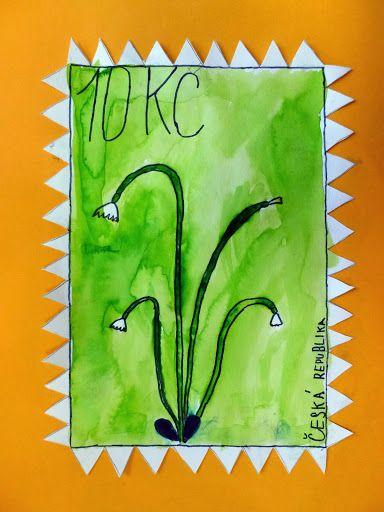 Naše poštovní známky - 2.B Třída U veverky