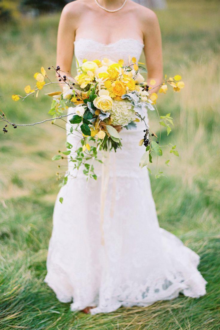 380 best yellow wedding colors images on pinterest yellow wedding wild yellow bouquet flowers by studio choo photo by tec petaja izmirmasajfo