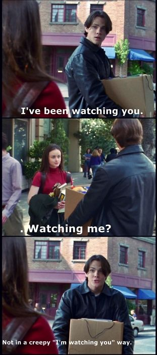 Gilmore Girls - Rory and Dean's first meeting. Gilmore Girls season 1, pilot episode. Funny!