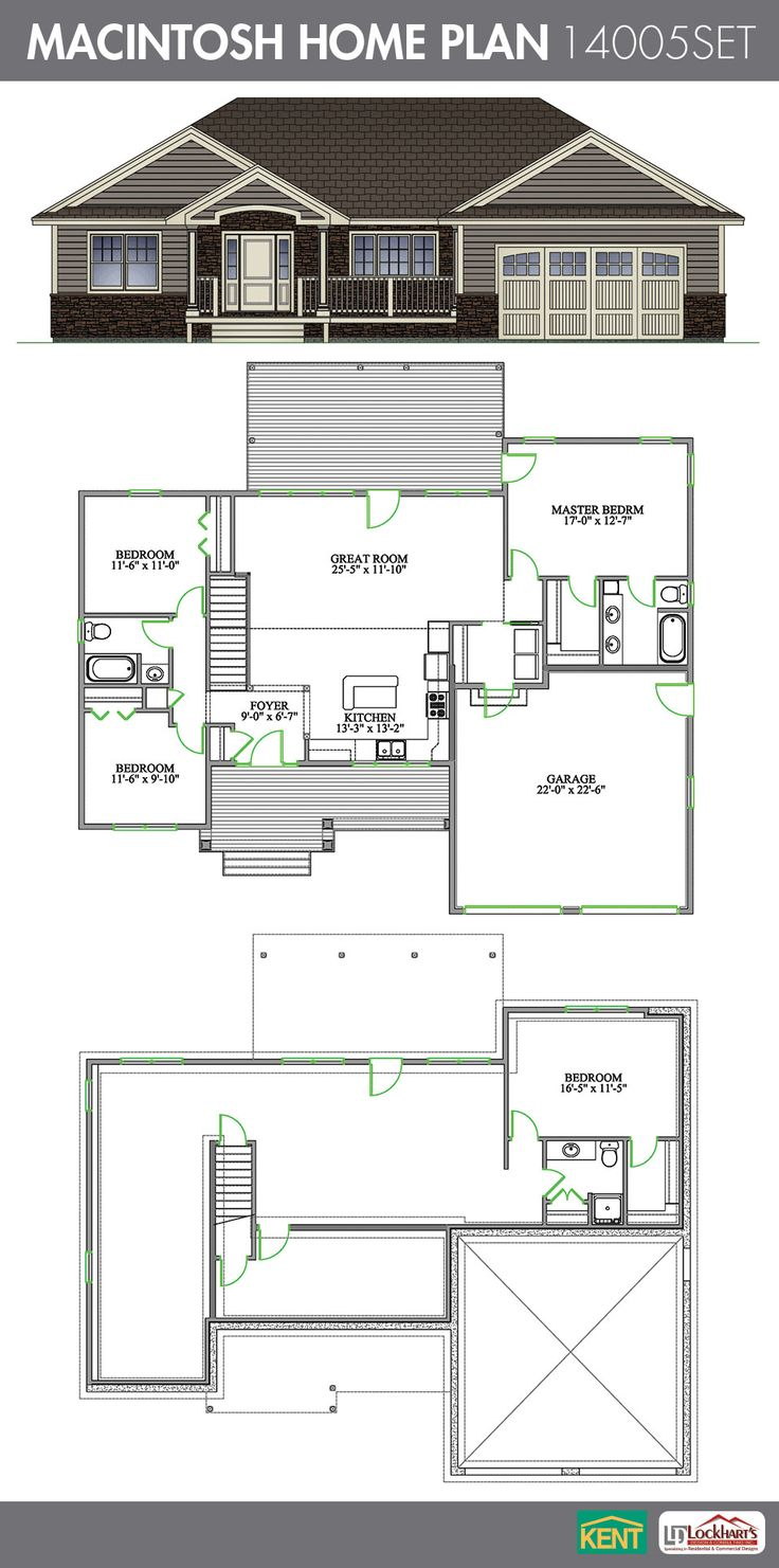 17 Best images about House Plans – 2 Bedroom House Plans with Attached Garage