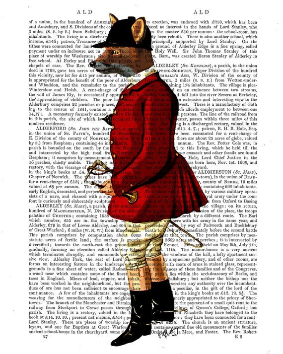 The Fox Hunter Art Print Digital Illustration Original by FabFunky, $15.00