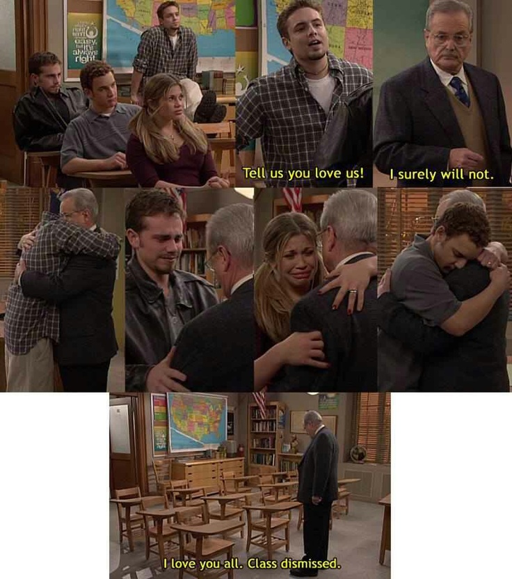 Boy meets world - I still cry like a baby when I watch this scene.
