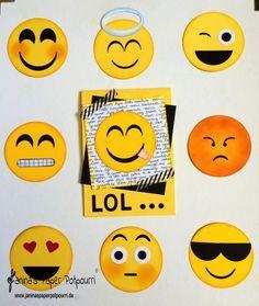 jpp - Emoji Punch Art / Smiley / Stampin' Up! Berlin www.janinaspaperpotpourri.de