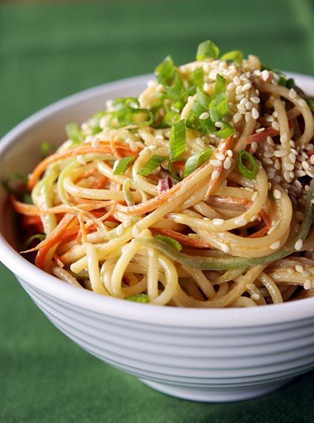 Cold Sesame Noodles | Appetite for China  http://appetiteforchina.com/recipes/chinese-cold-sesame-noodles/