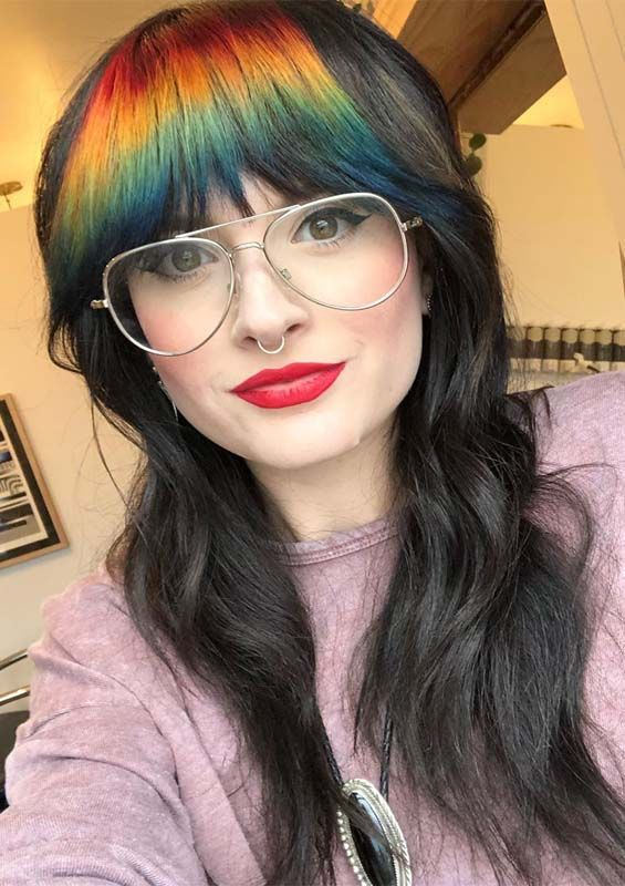 Best Long Hairstyles With Rainbow Bangs For Women 2019 Long Face Hairstyles Braids For Long Hair Hair Styles