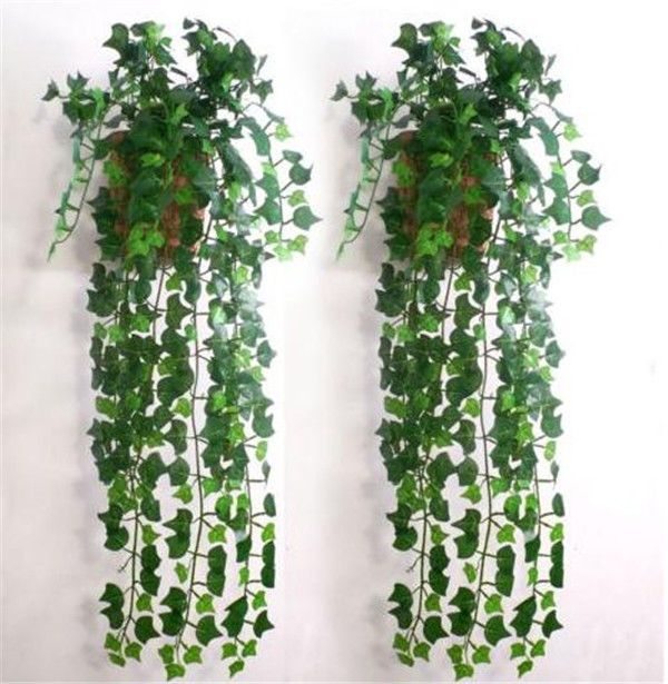 Green Artificial Plastic Ivy Leaf Garland Plants Vine Foliage Flowers Home Decor #NEW