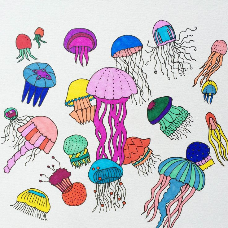 Drawing some jellyfish...
