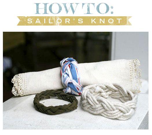 sailor's knot bracelet #handmade #jewelry #DIY #craft #knotting #macrame #bracelet