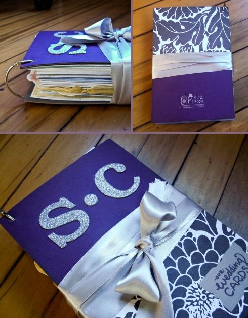 Wedding card album- Such a great idea to keep all the cards together!