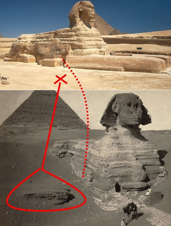 Dig a little deeper and they will find more of the truth. White man tearing off Sphinx nose doesn't mean anything but later proof to the lies they tell.