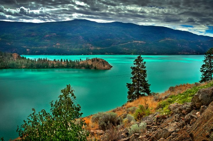 Travel destination: Okanagan Valley in British Columbia, Canada. Kalamalka Lake is located near Vernon, BC and it named one of the worlds most beautiful lakes.