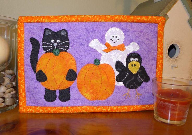 halloween mug rug pattern
