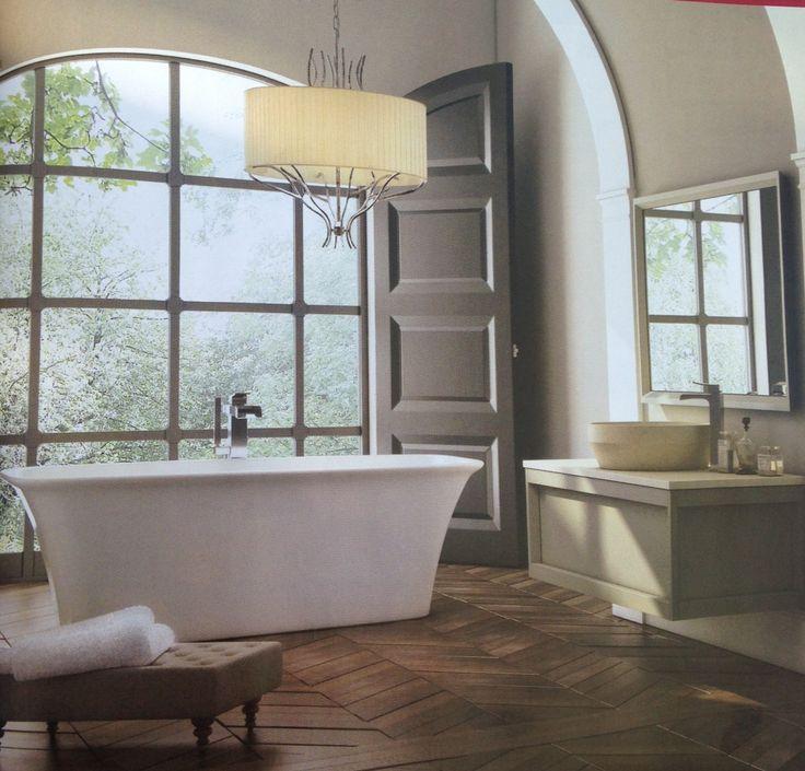 Love the window. Bathroom