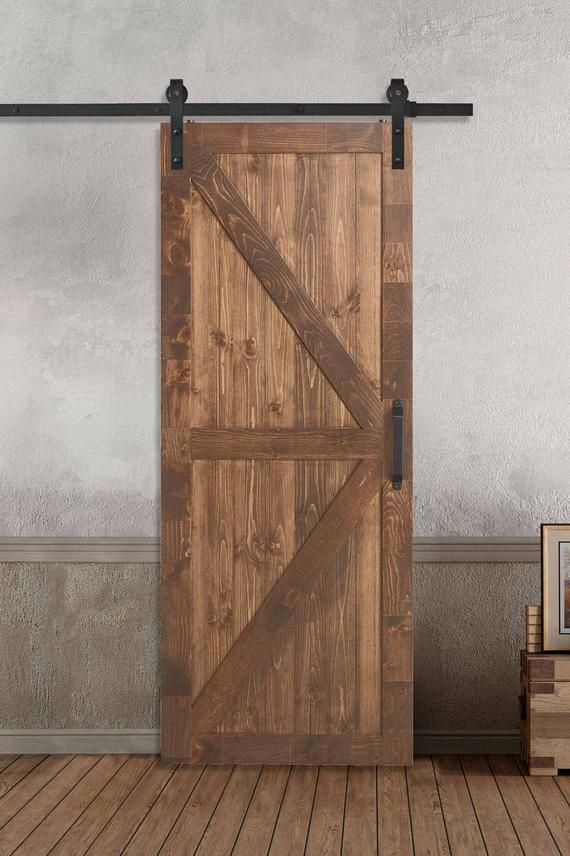 Farm Style Sliding Barn Doors K X Style Stained Painted 33 37 Wide Cover All Standard Barn Doors Sliding Barn Door Interior Barn Doors