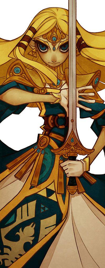 ArtStation - Link and Zelda Demon Road Bookmarks, Stephan McGowan