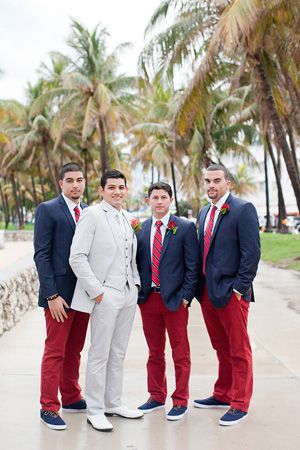 snazzy nautical groomsmen attire | Captured Photography