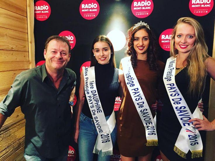 [#RMBlive]  Nous avons le plaisir de recevoir Sandy Fontaine Miss Prestige Pays de Savoie 2016 accompagnée Inès Dubois de 1ère Dauphine et Alicja Bollens Miss Prestige Pays de Savoie 2015 et membre du comité !  On parle du concours Miss Prestige National qui aura lieu à Bordeaux !! #radiomontblanc #missprestige #missprestigenational