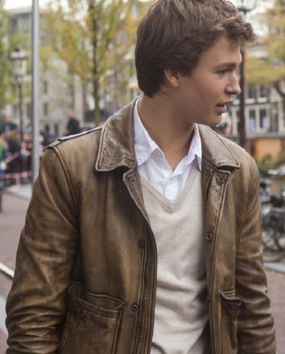 The Fault In Our Stars Ansel Elgort Biker Jacket
