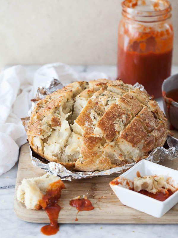Smoked Mozzarella Pizza Bread   FoodieCrush.com