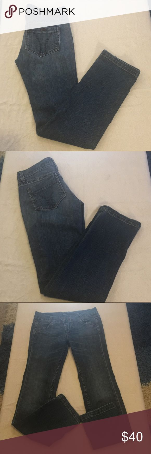 Miss Sixty Karen Straight Leg Jeans Size 31 Miss Sixty Karen Straight Leg Jeans Size 31. In excellent used condition. 98% cotton, 2% elastane. Measurements approximate. Waist 31 in. Rise 8 in. Inseam 31 1/2 in. 2 front pockets, 2 rear pockets. Unique 2 button & zipper closure. Miss Sixty Jeans Straight Leg