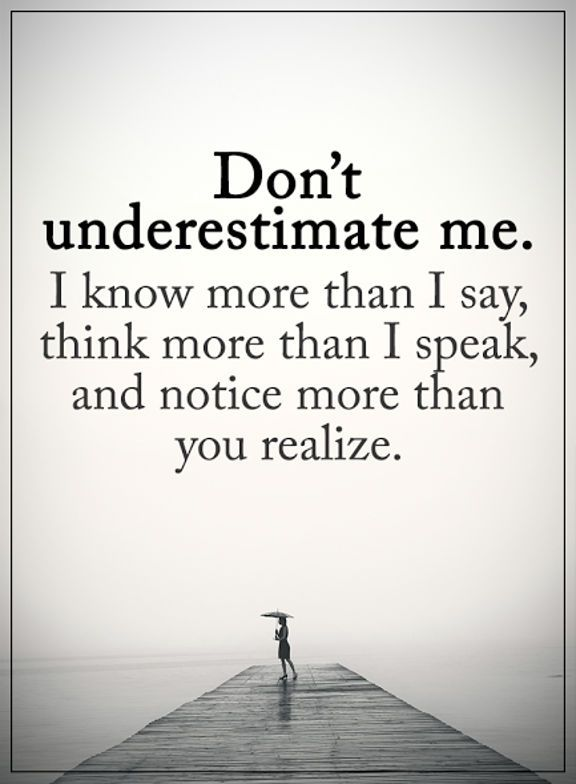 cool Inspirational Quotes: Positive thoughts About Life Don't Underestimate me What I AM