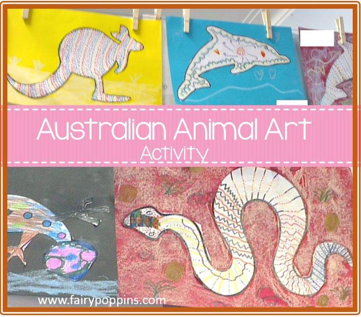 Australian animal art and story links for NAIDOC week