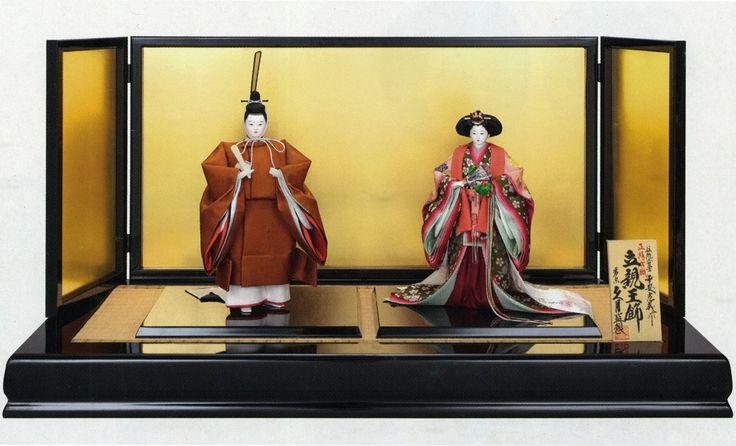 雛人形 Hina Dolls. Just the two of Emperor and Empress.