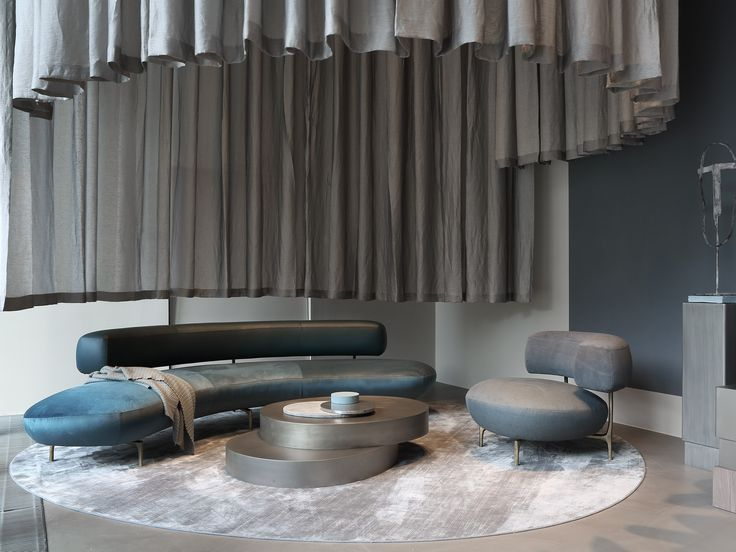 ELLA sofa and armchair, ODE coffee table and KYO console at Milan furniture fair 2017