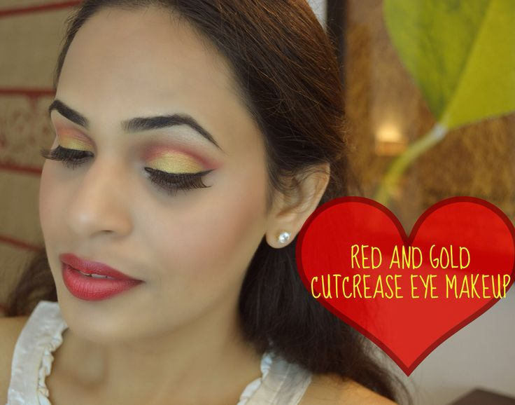 Red and Gold cut crease eye make up Watch on my channel #makeupbydamselshine  http://youtu.be/UVUbiCtUDaU