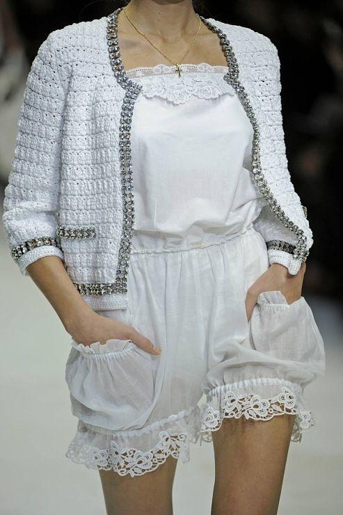 crochet knit unlimited: Dolce & Gabbana jacket