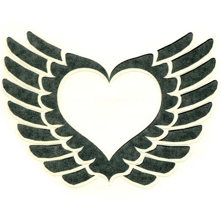 WINGED HEART Temporary Tattoo 3x3