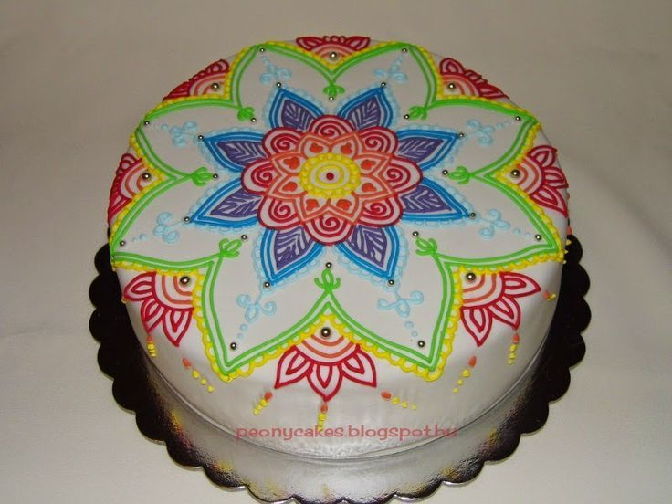 N Mehndi Cake : 43 best mandala cakes images on pinterest beautiful petit