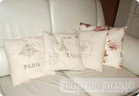 Francuskie poduszki w stylu shabby chic