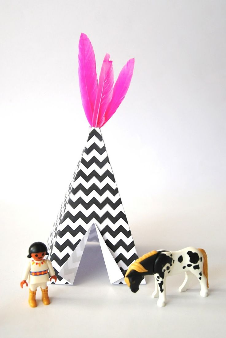 make a mini teepee | printable
