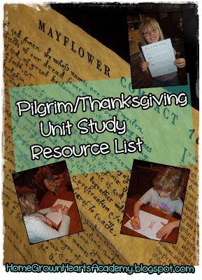 Home Grown Hearts Academy Homeschool Blog: Pilgrim/Thanksgiving Unit - Day 2…