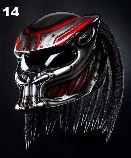 THE AMAZING PREDATOR HELMET MOTORCYCLE STYLE DOT APPROVED #CELLOS