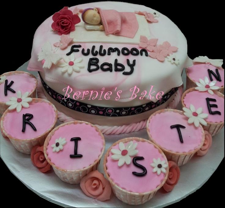 My first Full-Moon Baby Girl cake