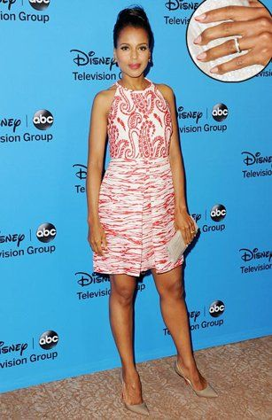 Kerry Washington Flashes Wedding Ring, Costars React to Her Marriage  #CuttestDressEver