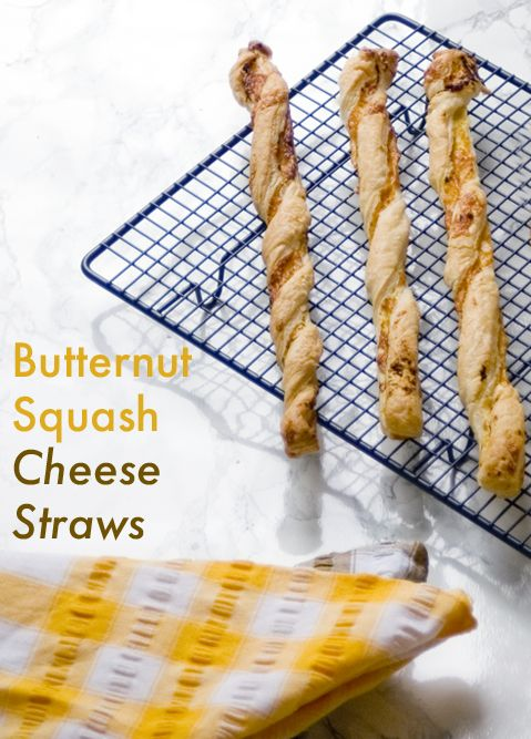 Easy recipe for cheese straws with hidden butternut squash inside