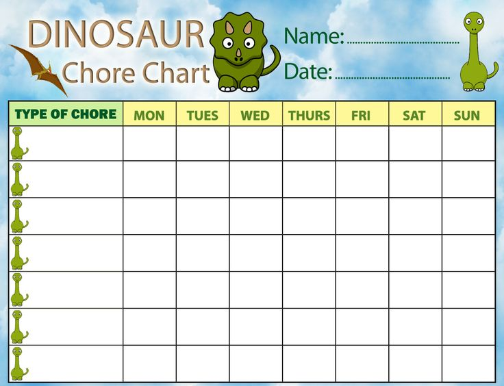 17 Best ideas about Weekly Chore Charts – Chore Chart Template