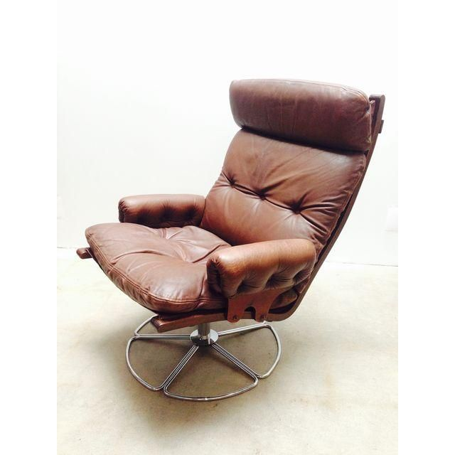 Image of Bruno Mathsson for Dux Swivel Base Lounge Chair