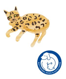 Bengal Cat Brooch £45 - Battersea Dogs & Cats Home 2016
