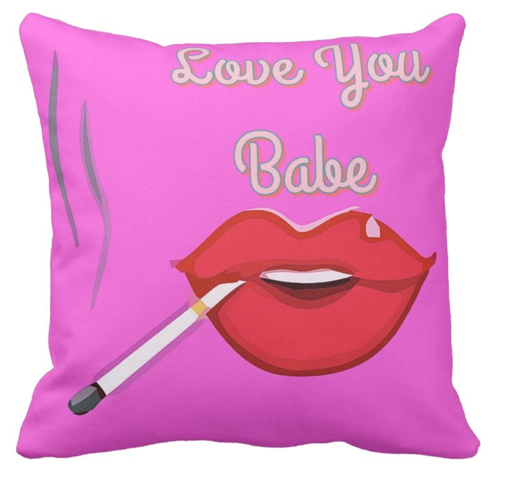 New to my collection of Pink Pillows, this 1950's image of red lips and a smoking cigarette. Probably not suitable for the kids' room but a good conversational cushion perhaps for your holiday home,  beach house or rumpus room.