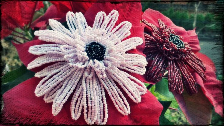 How to make a beaded gerbera daisy flower