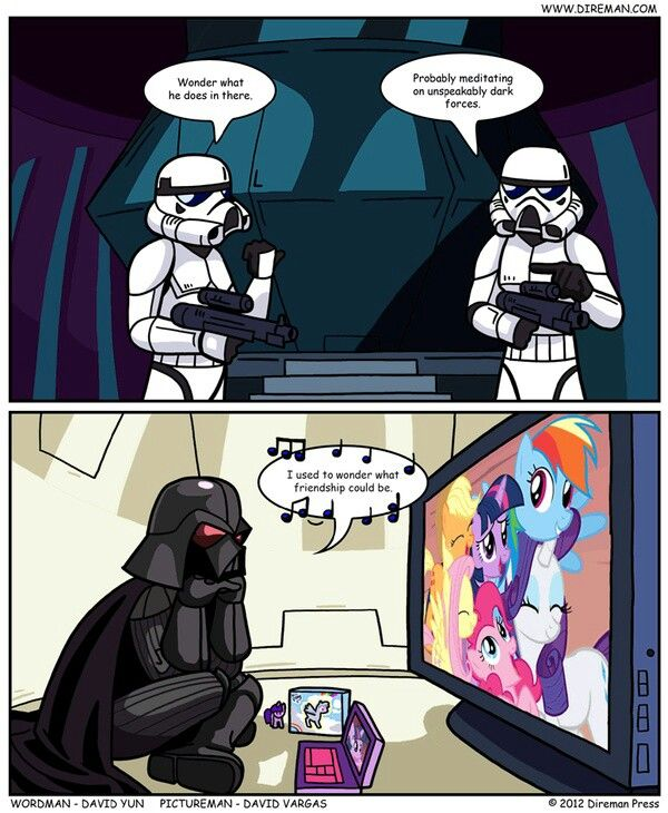 Awww Vader loves My Little Pony too! I think our daughter would agree with this! : )