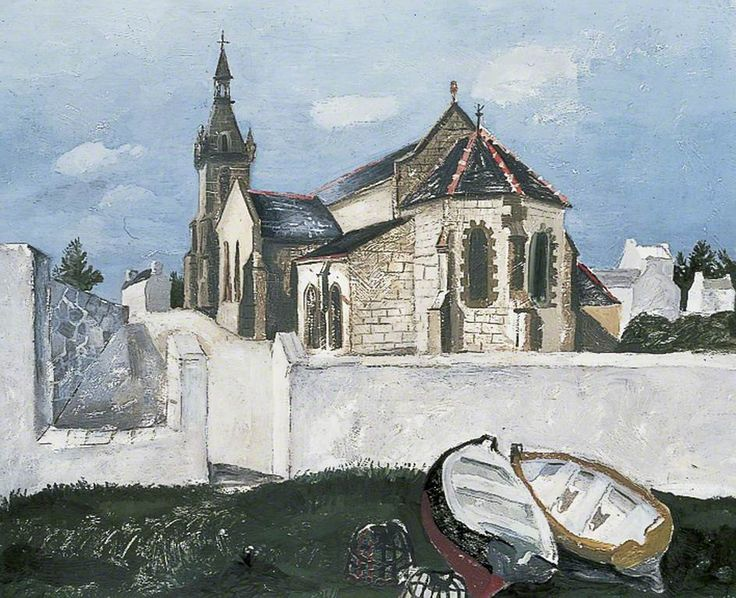 Tréboul Church, Brittany, France (1930) by Christopher Wood, Leeds Art Gallery
