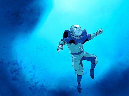Avatar Aang's awakening.