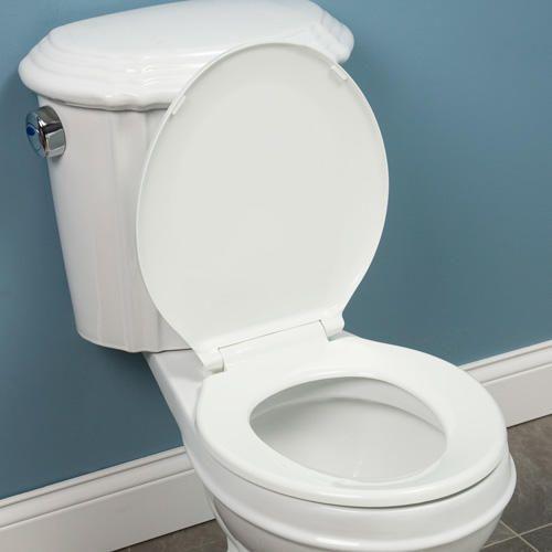 traditional toilet seat round front white