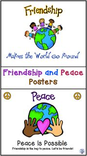 Friendship and Peace Posters   Children often don't realize that they can make a difference in the world by being peacemakers and friends. Here are some posters that share messages of peace and friendship. Click on the image to get your free copy.   Acts of Kindness Diamond Mom's Treasury friendship peace posters