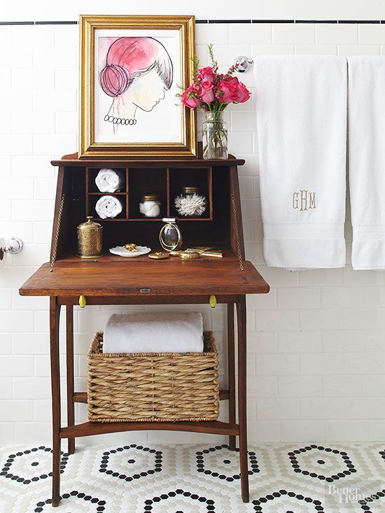 Add character and storage with an eye-catching hutch.